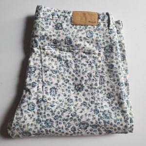Madewell Skinny Ankle Floral Jeans Size W 32 L 28